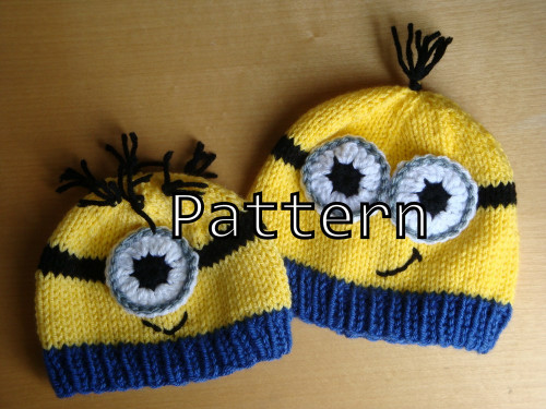 Knitting Pattern PDF - Minion Hat Pattern - Knit and Crochet Minion