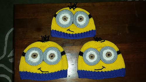Ravelry: Knit yellow minion hat pattern by Gem Rench
