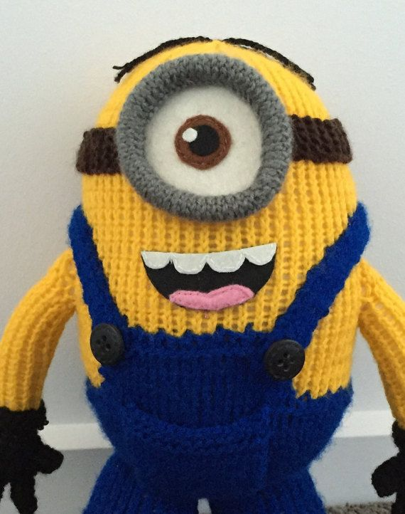 Stuart the Minion Knitting Pattern PDF by PatternsNPrototypes