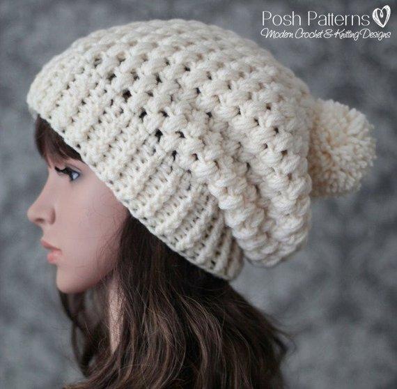 Crochet PATTERN Crochet Pattern Hat Slouchy Hat Pattern | Etsy