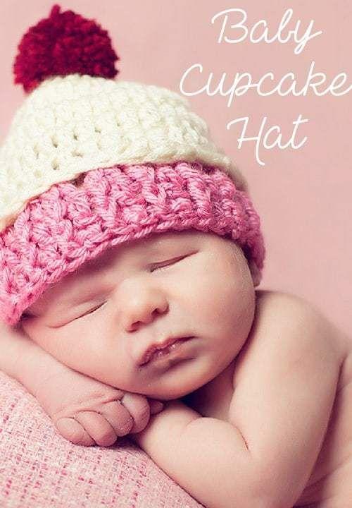 Baby Cupcake Hat Free Crochet Pattern | Crochet baby | Pinterest