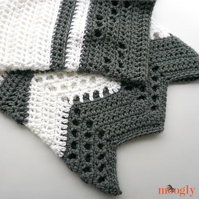 Modern Luxe Throw Blanket Free Crochet Pattern | Free Crochet Patterns