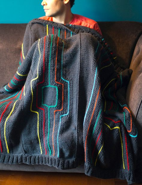 Knitting Pattern for Modern Lines Throw / Afghan / Blanket | knit