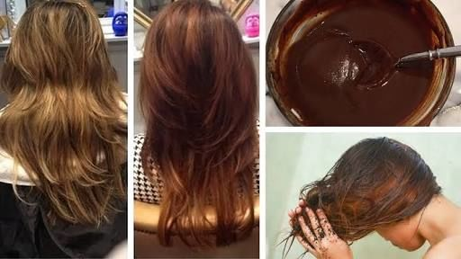 DIY Natural Hair Dye Color for Instant Dark Brown Hair !! : 4 Steps