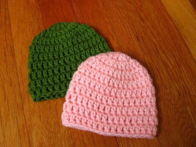 Easy, quick newborn hat: perfect basic hat! I've made them in