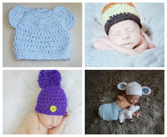 12 Newborn Crochet Hat Patterns to Download for FREE