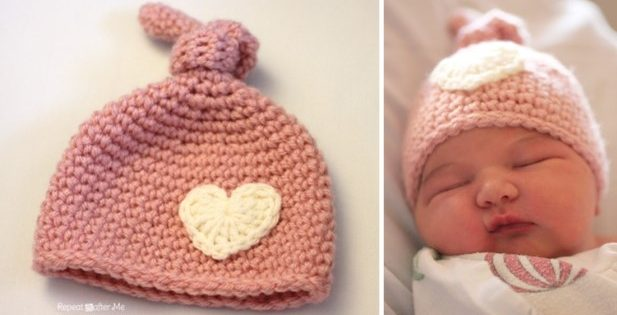 Newborn Crocheted Knot Hat [FREE Crochet Pattern]