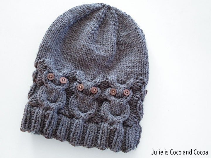 Owl Hat Knit Pattern | Free Knitting Patterns | Pinterest | Knitting