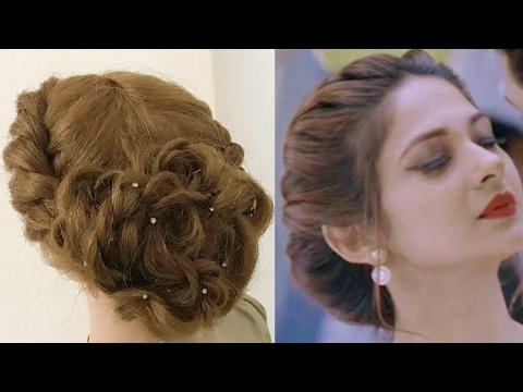 Beautiful Twist Hairstyle : Easy Party Hairstyles - YouTube