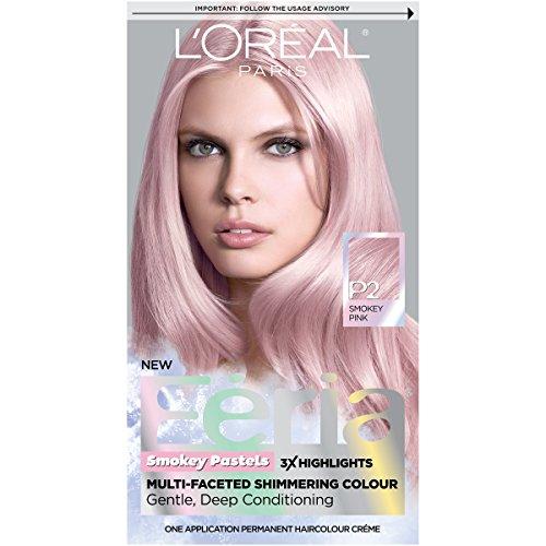 Amazon.com : L'Oréal Paris Feria Pastels Hair Color, P2 Rosy Blush