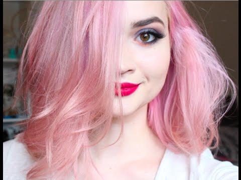 How I Dye My Hair Pink - YouTube