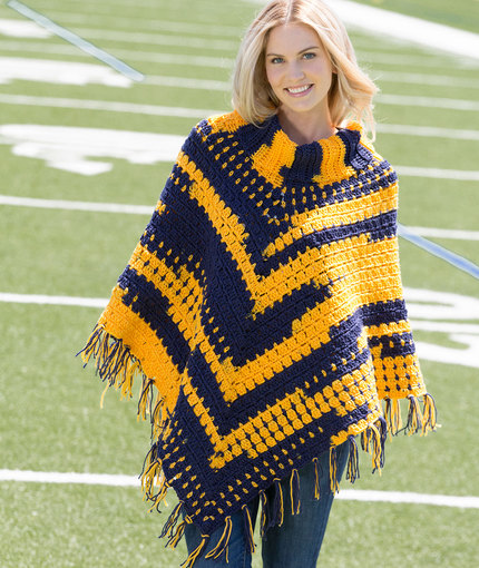 Sporty Crochet Poncho | Red Heart
