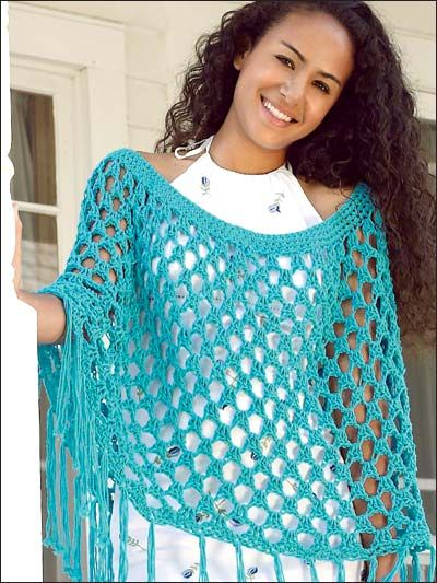 10 + Summer Poncho Free Crochet Patterns | Crochet | Crochet poncho