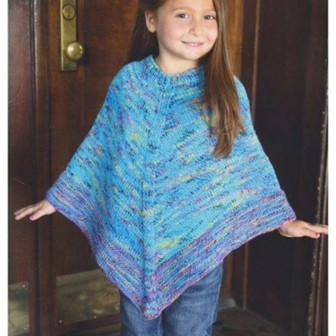 Plymouth Yarn 2954 Kid's Poncho at WEBS | Yarn.com