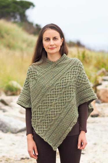 Portree Poncho - Knitting Patterns and Crochet Patterns from