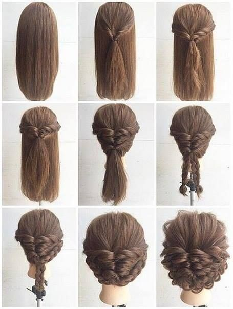 Simple & Pretty!❤ | Hairstyles | Pinterest | Hair styles, Hair