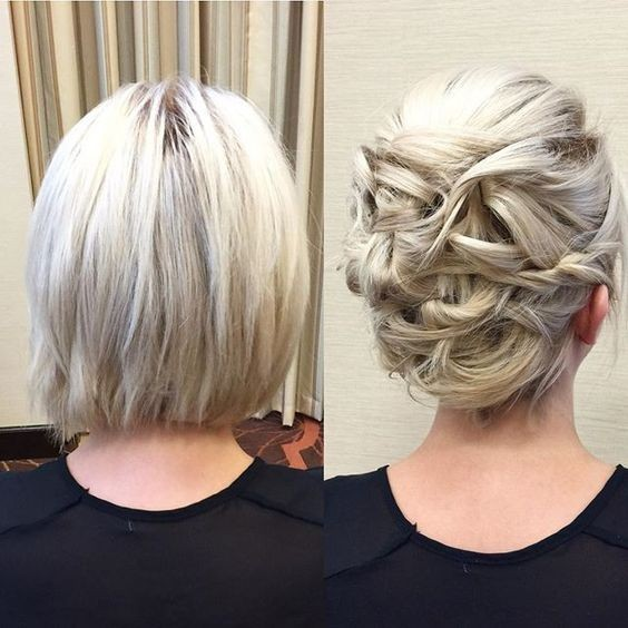 20 Gorgeous Prom Hairstyle Designs for Short Hair: Prom Hairstyles 2019