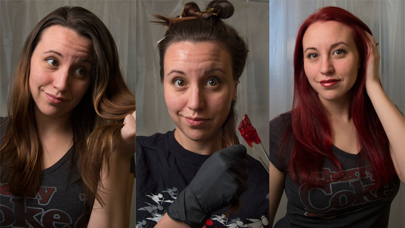 How To Dye Your Brown Hair Red Without Bleach If You're In The Mood