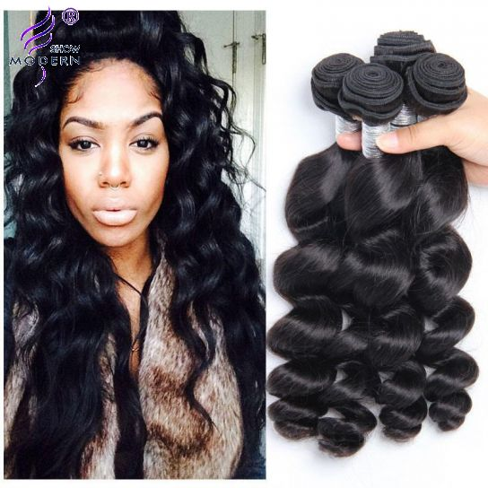 Real Raw Indian Hair Loose Wave 4 Bundles Human Hair Weave Virgin
