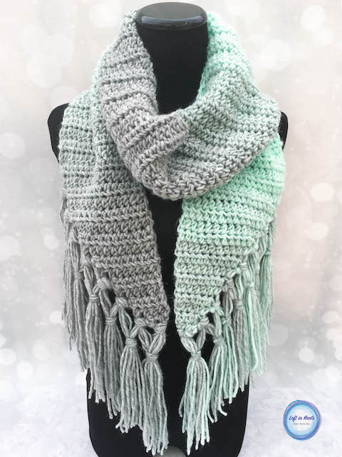 Mint-cicle Scarf Crochet Pattern u2014 Left in Knots