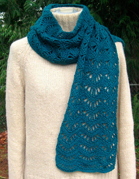 Ravenna Lace Scarf Crochet Pattern - Knitting Patterns and Crochet