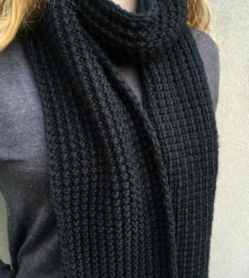 Broken Rib Unisex Knit Scarf Pattern | AllFreeKnitting.com