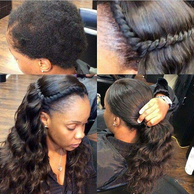 Natural sew in | sew in | Pinterest | Hair styles, Hair and Braids