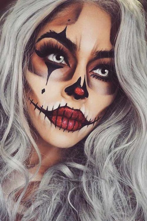 Sexy Halloween Makeup Looks That Are Creepy Yet Cute ☆ See more