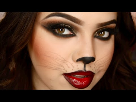 Sexy Cat Halloween Makeup - YouTube