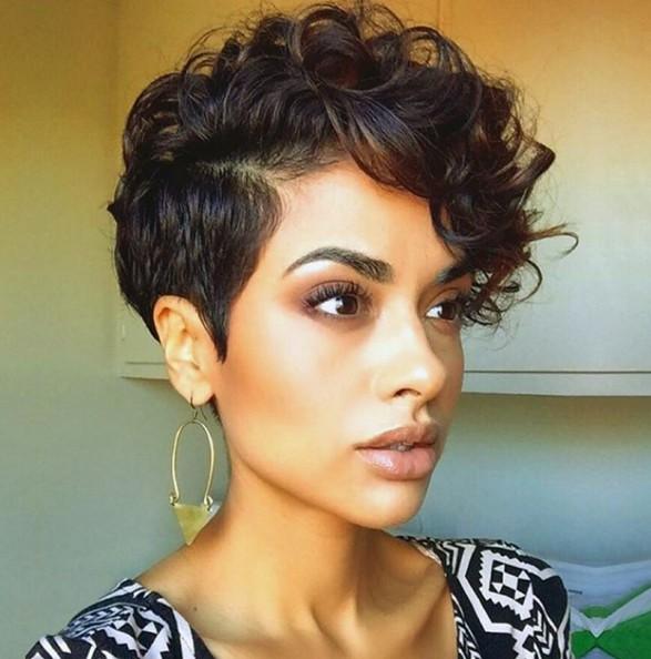 Short Curly Hair Style - Curls Pixie Haircut - PoPular Haircuts