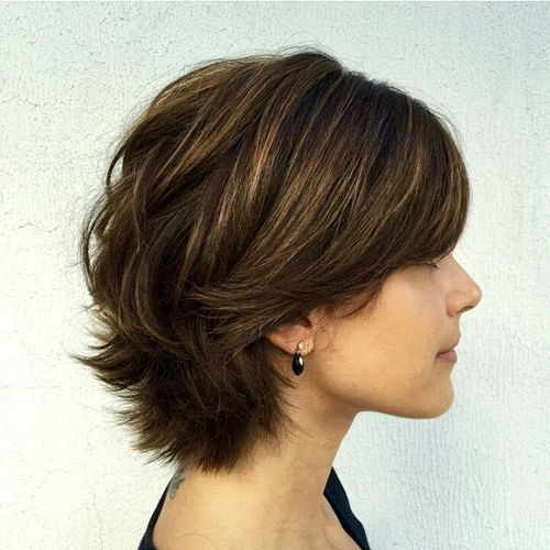 Get stylish short haircuts for thick hair