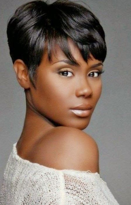 Short Black Haircuts Women 22