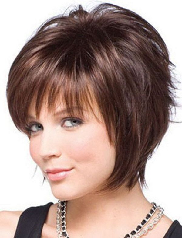 25 Beautiful Short Haircuts for Round Faces | Hair | Pinterest