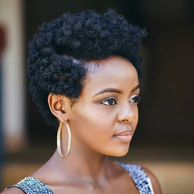 51 Best Short Natural Hairstyles for Black Women | StayGlam