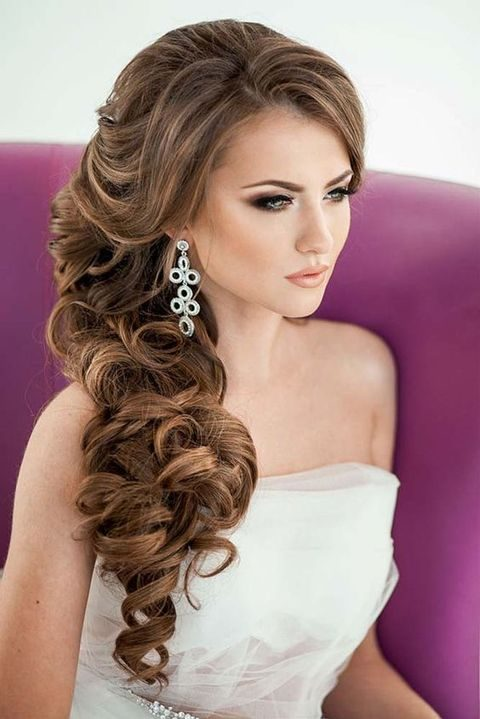 40 Gorgeous Side Swept Wedding Hairstyles   HappyWedd.com