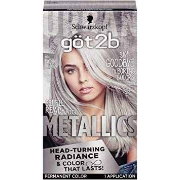 Amazon.com: Got2b Metallic Permanent Hair Color, M71 Metallic Silver
