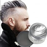 Fashionable silver hairdye