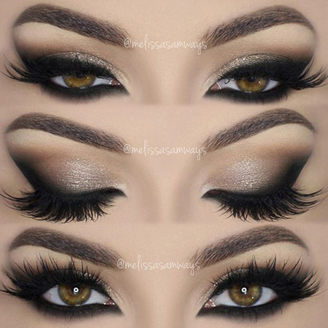 Neutral AND Dramatic Smokey Eye Makeup - Front Views
