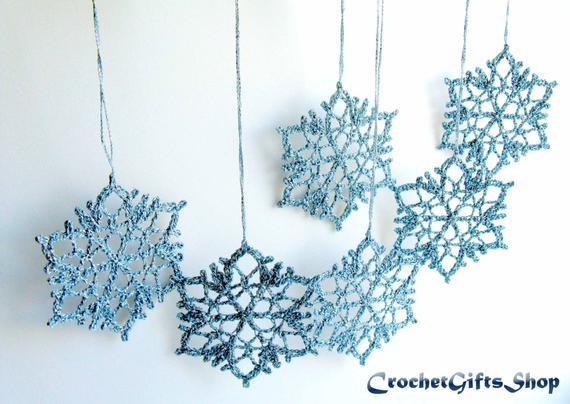 Christmas Snowflake Ornament Crochet PATTERN xmas PDF Instant | Etsy