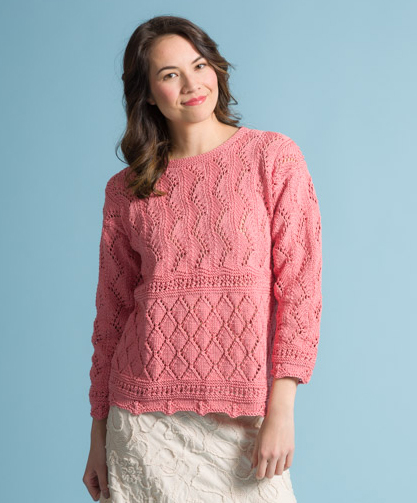 Point D'Esprit in Provence Free Lace Sweater Knitting Pattern