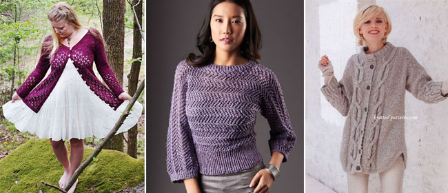 Sweaters and cardigans: 10 free patterns
