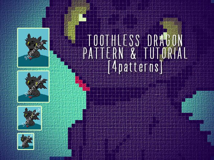 Toothless Dragon blanket corner to corner crochet pattern and