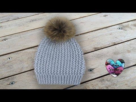 Tricot Bonnet Sibérie magnifique pas à pas - YouTube