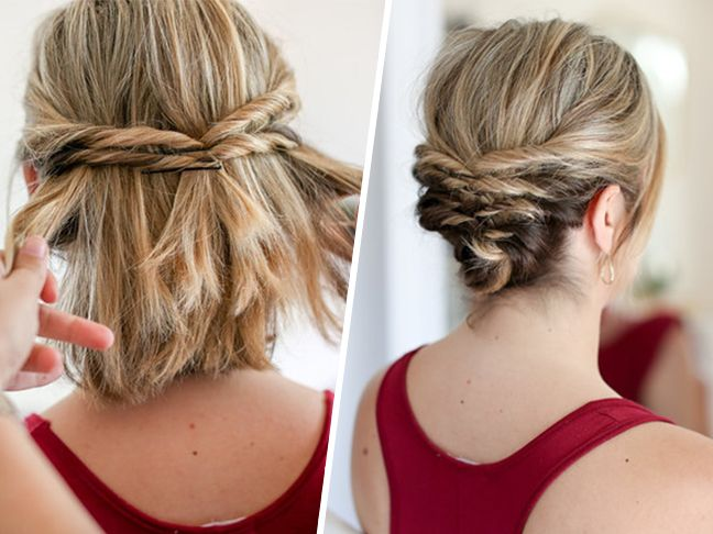 This Quick Messy Updo for Short Hair Is So Cool | haira-dids