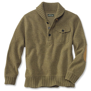 Boiled Wool And Cotton Knit Pullover Sweater / Engineer's Wool