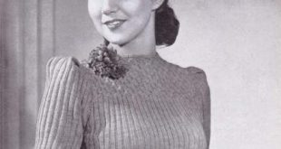 free vintage knitting pattern 40s forties 1940s #knittingpattern