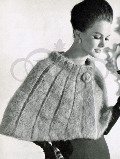 Vintage Knitting pattern-How to make a 1950s shoulder cape