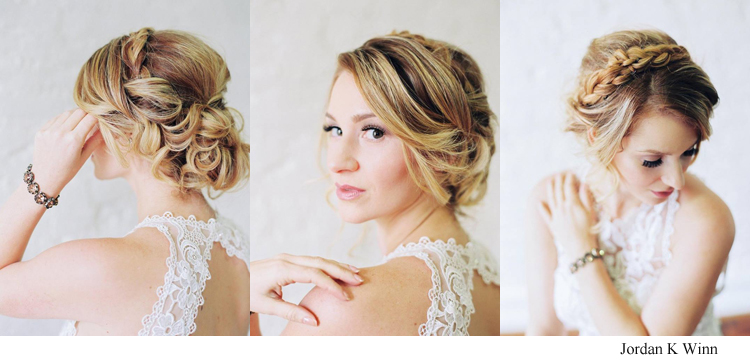 Romantic Bridal Hair and Makeup Photos - Hair Comes the Bride