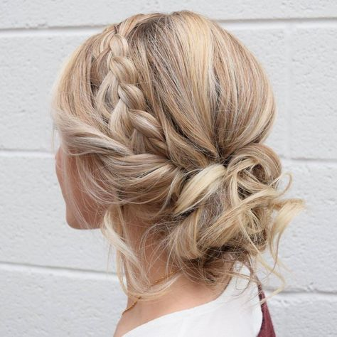 Summer Hairstyles : braid crown updo wedding hairstyles,updo