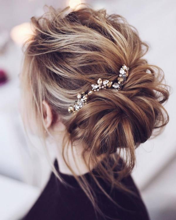 30 Chic Wedding Hair Updos for Elegant Brides | Deer Pearl Flowers